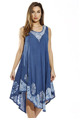 - Riviera Sun 20653-DS-XL Dress/Dresses for Women Denim/Blue