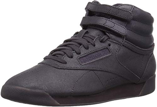 Reebok Women's Freestyle Hi Walking Shoe, face-Smoky Volcano/White, 10 M - Boots Ladies Sneaker
