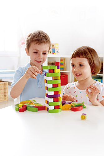Award Winning Hape Stacking Veggies Kid's Wooden Skill Learning Game by Hape (Image #1)