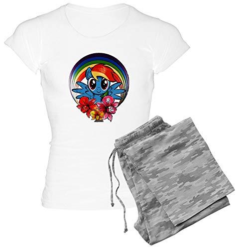 CafePress My Little Pony Rainbow Dash Flowers Pajamas Womens Novelty Cotton Pajama Set, Comfortable PJ Sleepwear