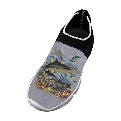 New Love Flywire Knitting Sneakers 3D Custome With Sea For Boys Girls