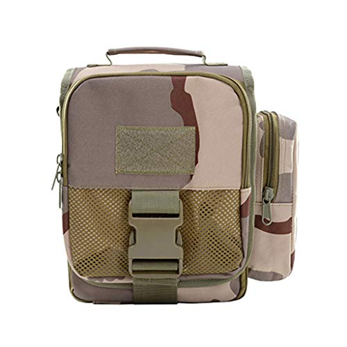 iSkylie Tactical Liter Hiking Backpack Molle Pouch Belt Waist Pack Bag Lightweight Backpacks for Travel (H, 17x12 x 7cm) (Main Drawstring Compartment Has)