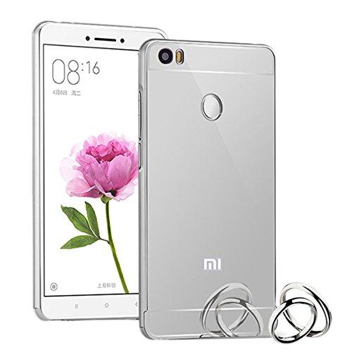 Aluminum Metal Frame Back Case Cover for Xiaomi Mi Max (silver) - 1
