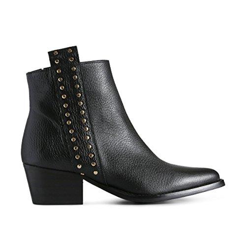 Noir Femme Bottines Studs Leila the 110 Shoe Bear Black YwqxABXHC