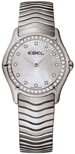 Ebel Classic Womens Mother-of-Pearl Sunburst Diamond Dial Diamond Bezel Stainless Steel Watch 9256F24/99925 / 1215432