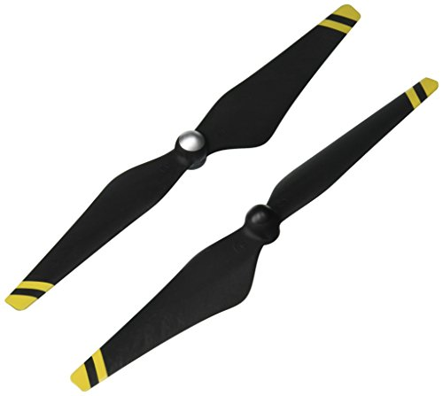 Genuine DJI Phantom 3 E305 9450 Carbon Fiber Reinforced Self-tightening Propellers Props (Composite Hub, Black with Yellow Stripes) For Phantom 3 Professional, Advanced, Phantom 2 series, Flame Wheel series platforms and the E310/E305/E300 tuned propulsion systems