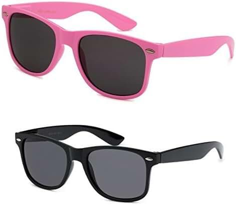 2 Pair Classic Men Women Retro Party Wedding Sport Wayfarer Sunglasses