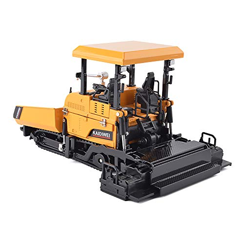 1/40 Scale Diecast Alloy Paver Truck Engineering Vehicles Model Collection (Yellow)
