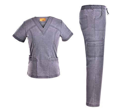 Cheap Scrub Sets stretch women scrubs set multiple pockets women nurse