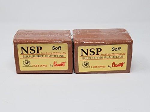 Chavant NSP SOFT 4 Lbs Oil Based Sulfur-Free Sculpting Clay (Brown)