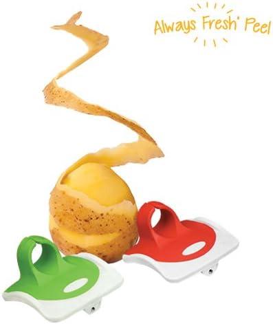 Always Fresh Kitchen Peel Pelador de Verduras 2 x 7 x 7 cm Rojo 2 Unidades