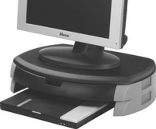 QCONNECT MON PRINTER STAND/DRAWER BLK ElectricalCentre KF20081