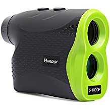 Huepar Multifunctional Laser Rangefinder LR1000P 6x25mm Optics Range Finder with Pinsensor and Ranging, Speed, Scanning, Fog Modes, Measuring up to 1100 Yards Perfect for Golf, Hunting, Outdoor Use