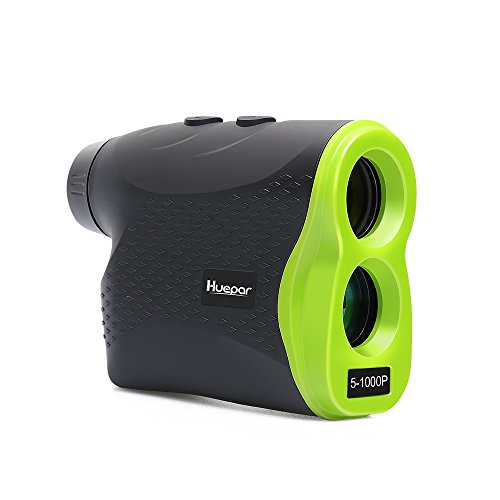 Huepar Multifunctional Laser Rangefinder LR1000P 6x25mm Optics Range Finder Pinsensor Ranging, Speed, Scanning, Fog Modes, measuring up to 1100 Yards Perfect Golf, Hunting, Outdoor Use