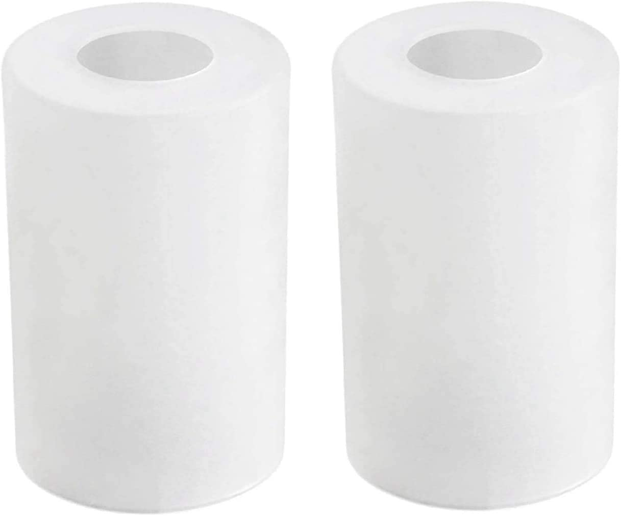 """Frosted Light Shade Glass Lamp Shade Pendant Light Shade Replacement Light Fixture Cylinder Shade Diameter 3.5"""" Height 5.5"""" Fitter 1.65"""" (2 Packs)"""