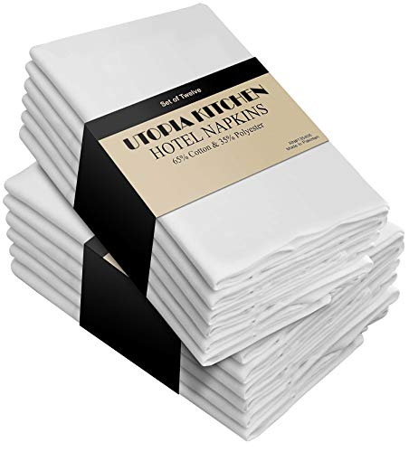 (Utopia Kitchen Cloth Napkins (18 inches x 18 inches) - 12 Pack Soft and Comfortable Cotton Dinner Napkins)