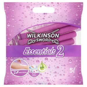 Wilkinson Sword Essentials 2 Disposable Twin Blade Razors for Women - 5 Pack
