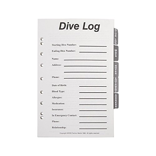 (Trident Tabbed Set Refill GB01 6-Ring Dive Log Binder)
