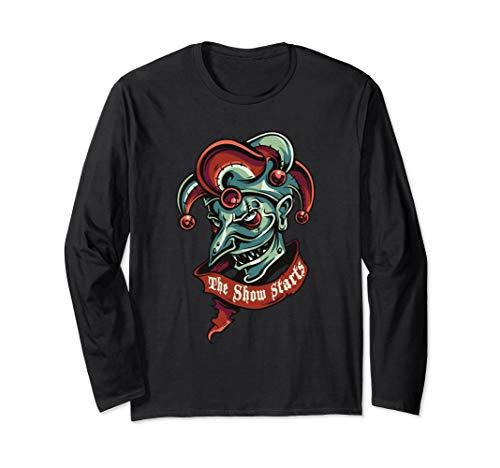 Freak show clown Long Sleeve T-Shirt for halloween ()