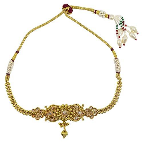 Gold Tone Kundan Stone Traditional Women Wedding Upper Arm Bracelet Jewellery Jewelry & Watches
