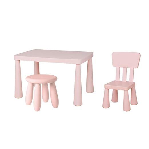 Combinación de mesa y silla de plástico para niños, juego de mesa ...