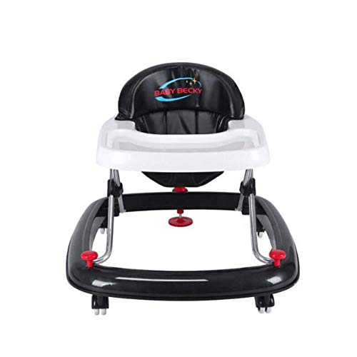 Baby Bouncers,Foldable Toddler Stand Learning Stroller for Seated Or Walk-Behind with Activity Tray/ 6 Universal Wheels/Adjustable Seat Height