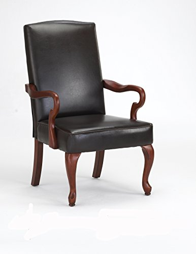 Cherry Finish Accent Chair - Comfort Pointe Derby High Back Accent Chair in Cherry Finish 442981, Brown