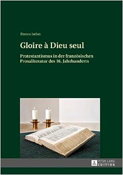 Book Gloire a Dieu Seul: Protestantismus in Der Franzoesischen Prosaliteratur Des 16. Jahrhunderts