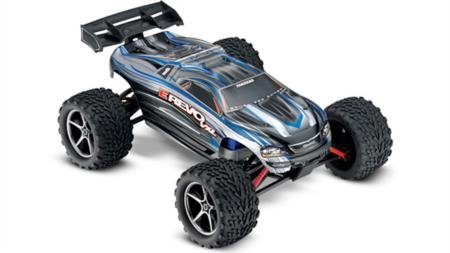 Traxxas E-Revo: 1 10 Scale 4WD Electric Racing Monster Truck with TQi 2.4GHz Radio and TSM - Silver