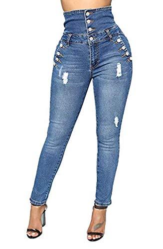 Skinny Stretch vtements Dcontracte Taille Bleu Haute Femme Jeans Denim de 2 Style Fonc Pantalons zqSxIXwX