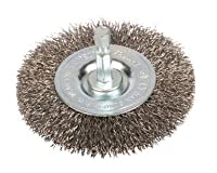 Forney 72736 Wire Wheel Brush, Fine Crimped with 1/4-Inch Hex Shank, 3-Inch-by-.008-Inch