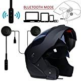 Oeyal Motorcycle Street Bike Helmet/Modular Flip up Dual Visor/Sun Shield Full Face Helmet