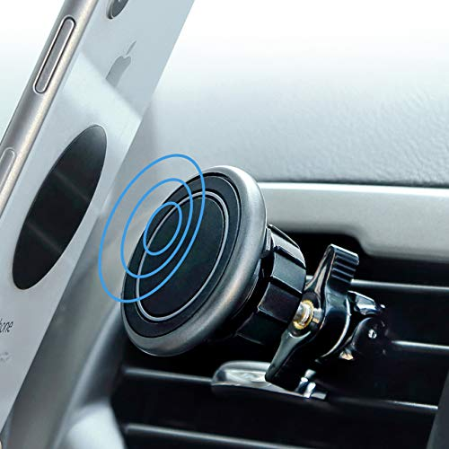 Kuelor Magnetic Phone Car Mount, Air vent Magnetic Car Mount Holder for iPhone 7 7 Plus 6 6s Plus 5s Samsung Galaxy S8 S7 S6 and more Smartphones - Black