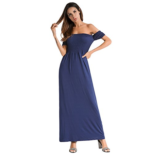 Maxi Blue Out Party Sexy Lake Off antaina Dress Shoulder Long Wrap Night Cocktail Beach Bw8gxp14