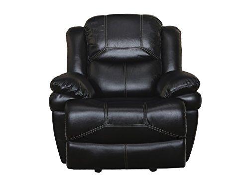New Classic Furniture 22-2177-13P-PBK Flynn Glider Recliner, No Base Lights, Power, Premier Black