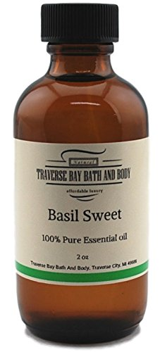 Sweet Basil essential oil 2 oz, 100% Pure,Uncut. Soap making supplies- aromatherapy