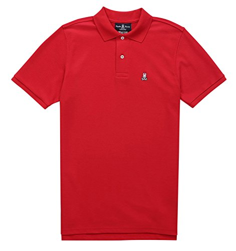 Psycho Bunny Men's Classic Polo Shirt, Brilliant Red, 8/XX-Large