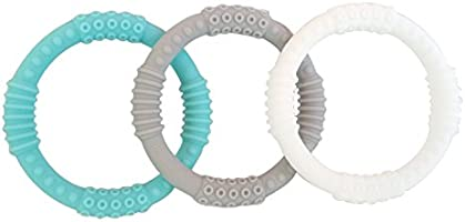 mooi baby BPA-Free Baby Boy Teething Rings Teething Ring 3 Pack