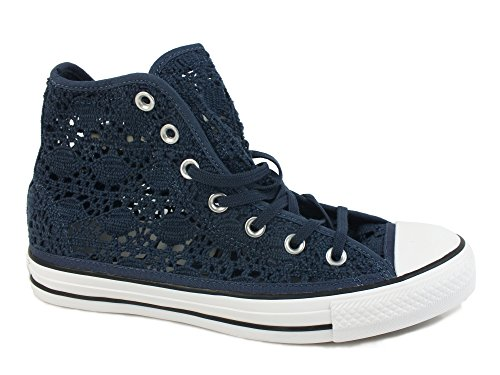 TESSUTO 552733C sneakers Hi CONVERSE 35 Star WHITE All NAVY pizzo Chuck Taylor w064g6pq