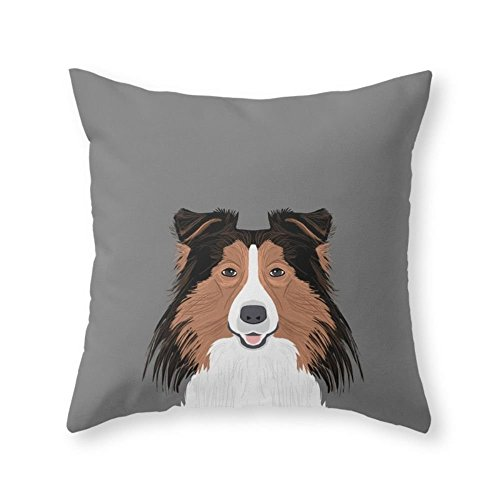"Rocking Giraffe Shetland Sheep Dog Gifts For Sheltie Owners And Dog People Gift Ideas Perfect Dog Gifts 18"" x 18"" Throw Pillow Indoor Cover Pillow Case(not include insert)"