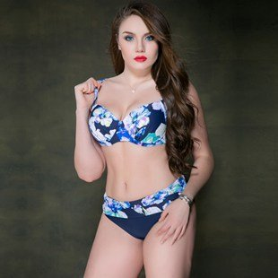 Bikini european model look for