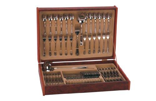 Monix-Oslo-Set-75-piezas-cubiertos-de-acero-inox-1810-con-cuchillo-chuletero-y-estuche-nogal