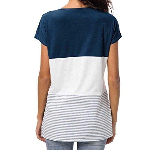 SANFASHION Shirt155 Dunkelblau Ballerine Bekleidung SANFASHION Damen Donna XL 6AnwqA17