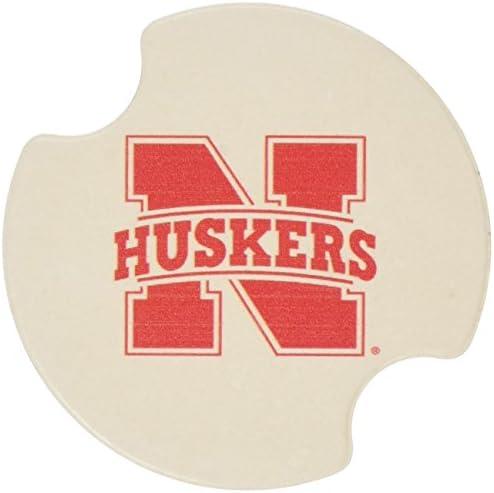 Thirstystone University Of Nebraska Car Cup Holder Coaster 2 Pack Kitchen Dining