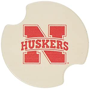 Thirstystone University of Nebraska Car Cup Holder Coaster, 2-Pack