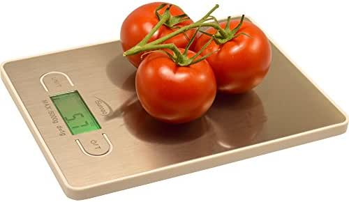 iSunnao Electronic Digital Kitchen Scale Small Sleek Design Food Weighing in Grams Ounces and Pounds, up to 11 lb. (5 Kg), White