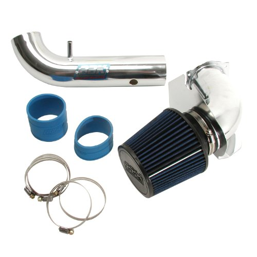 BBK 1717 Cold Air Intake System – Power Plus Series Performance Kit for Ford Mustang 3.8L V6 – Fenderwell Style – Chrome Finish