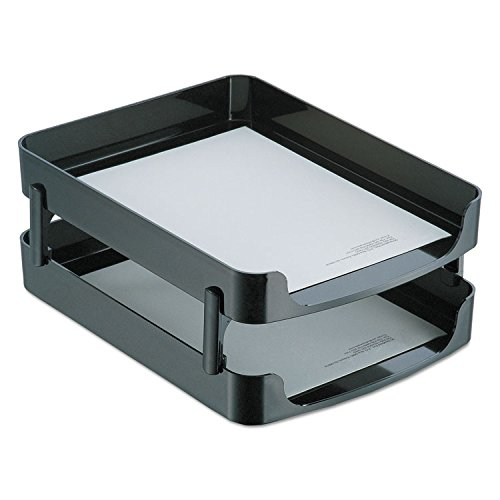 Officemate 22236 2200 Series Front-Loading Desk Tray, Two Tiers, Plastic, Letter, Black ()