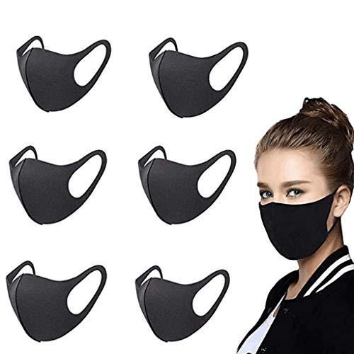 Allegorly 6/9 PC Unisex Atmungsaktiv Gesichts, Schutz Baumwolle, Schutz Waschbar, Waschbarer Mundschutz Baumwolle, Stoffe FüR Mundschutz