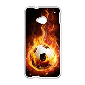 Creative Fire Football Hot Seller High Quality Case Cove For HTC M7